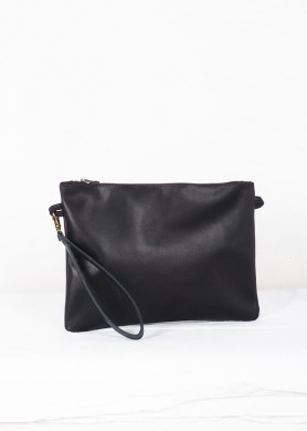 Leather  Maxi bag Mineral