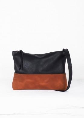 Cognacand Black leather...