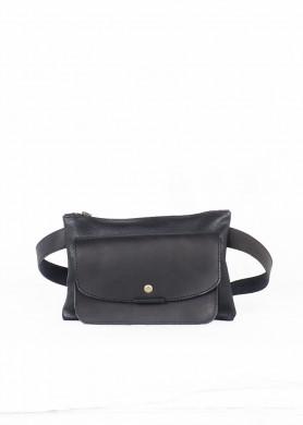 Black leather belt bag ·...