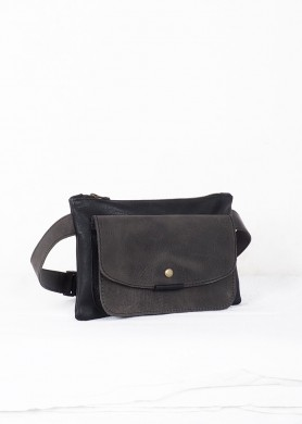 Gray and Black leather belt...