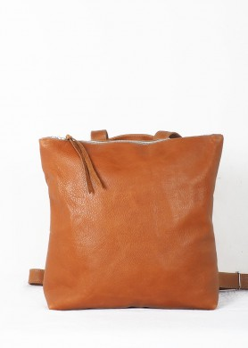 Brown leather backpack for...