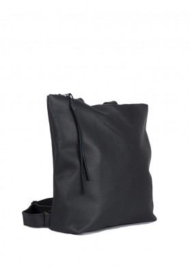 Black leather backpack for...