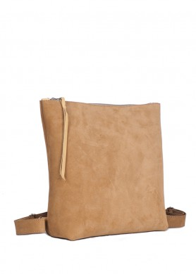 Camel leather backpack for...