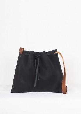 Black Leather crossbody Bag...