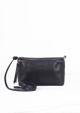 Black small leather cross...