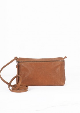 Brown small leather cross...
