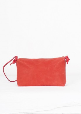 Coral red small leather...