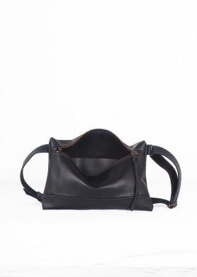 Black minimalist leather...