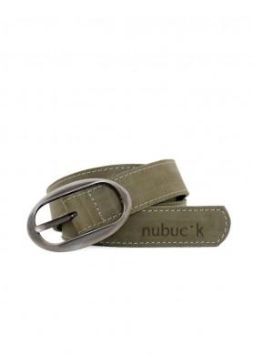 Cinturó de cuero verde...