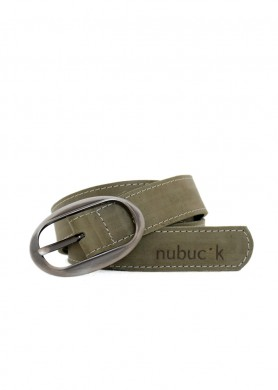 Green leather belt · WOMEN ·