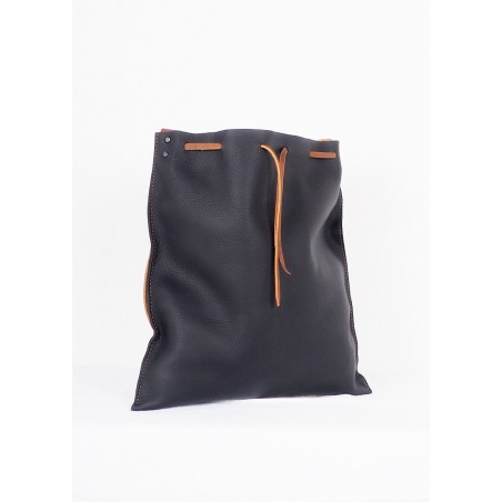 Brown Leather Backpack Hibrid