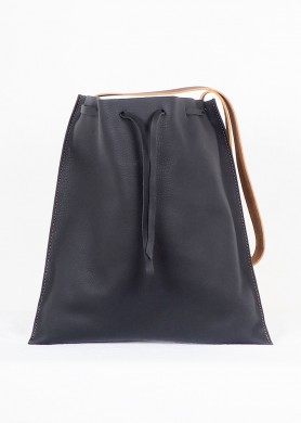 Black Leather Shopping Bag...