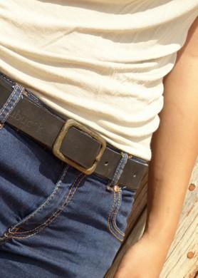 Cinturón de cuero negro 30...