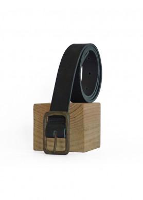 Mat Black leather belt 30 ·...