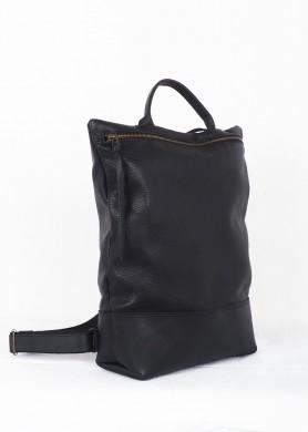 Black leather Backpack ·...