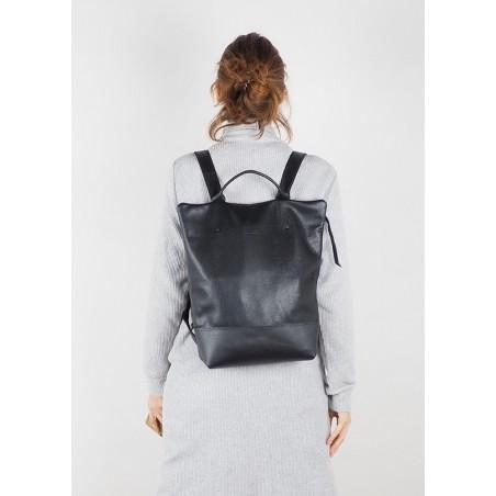 Bolso de cuero Shopper · Hibrid Marrón