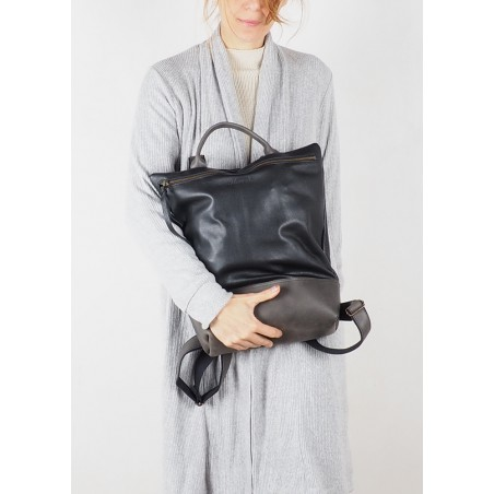 Leather Tote bag · Brown Hibid